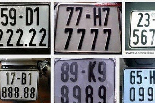 Chia biển số xe theo 5 nhóm để đấu giá