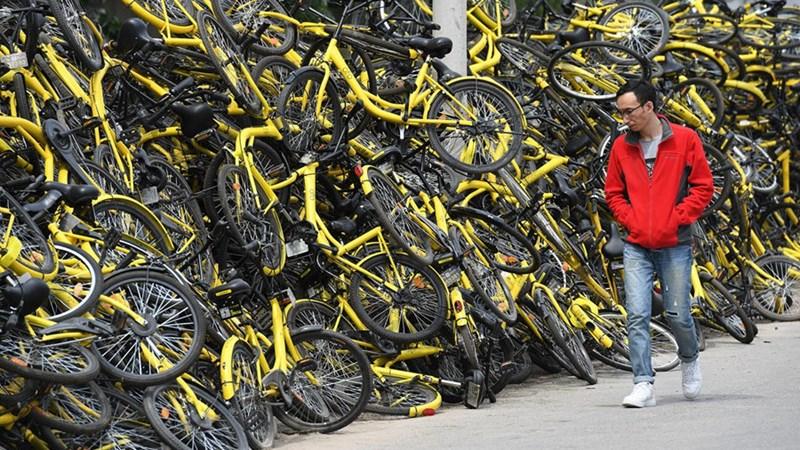 """Những hình ảnh kỳ thú về """"nghĩa trang"""" xe đạp khổng lồ ở Trung Quốc"""
