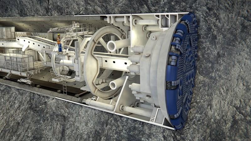 [Video] Robot khổng lồ khoan xong hệ thống đường hầm metro
