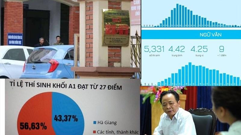 [Infographic] Những con số rúng động trong vụ gian lận điểm thi THPT Quốc gia ở Hà Giang