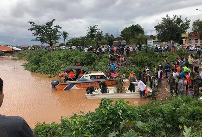 [Infographic] Vị trí vỡ đập ở nước bạn Lào nằm ở đâu trên sông Mekong?