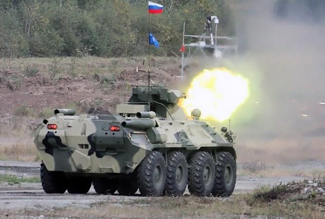 Khám phá sức mạnh xe bọc thép chở quân BTR-82A của Nga