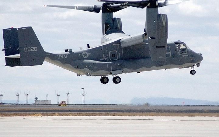 Lộ diện hình ảnh máy bay quân sự đặc biệt CV-22 Osprey của không quân Mỹ