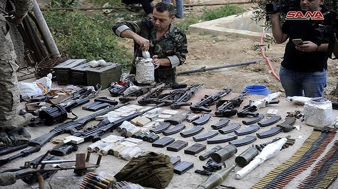 Khủng bố tiếc nuối khi kho vũ khí lớn chôn giấu ngay trong thủ đô bị Syria thu giữ