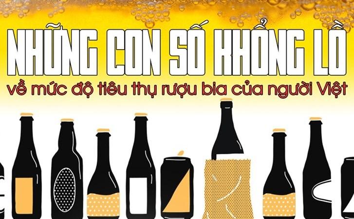 [Infographic] Sốc với những con số khổng lồ về mức độ tiêu thụ rượu bia của người Việt