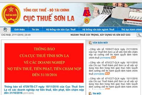 Sơn La: Doanh nghiệp nợ thuế hơn 298 tỷ đồng