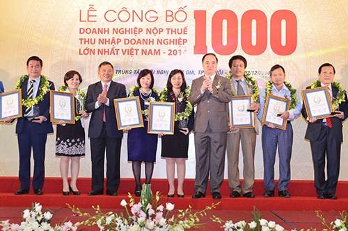 Công bố 1.000 doanh nghiệp nộp thuế lớn nhất
