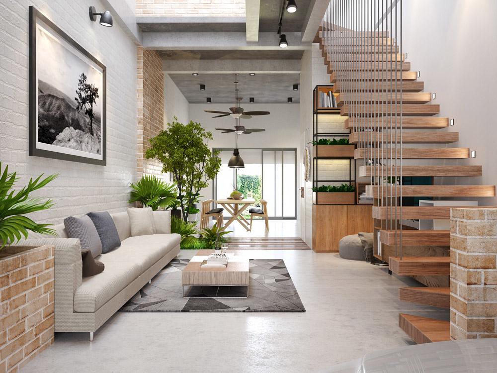 Những ý tưởng thiết kế nội thất phòng khách nhà ống năm 2019 - Ảnh 4
