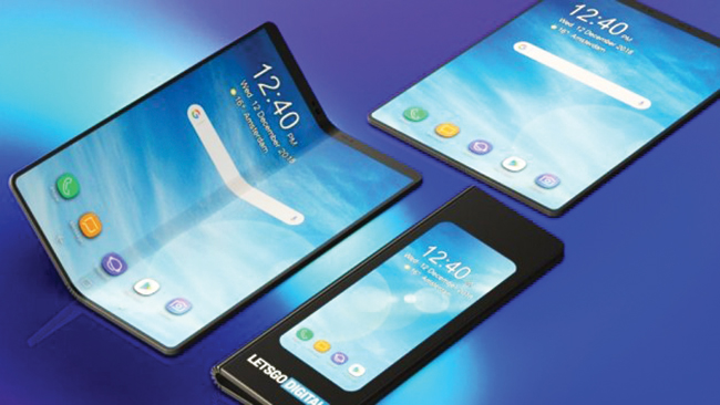 Tùy theo cách gấp, bạn cũng có những chiếc điện thoại Galaxy Fold khác nhau.