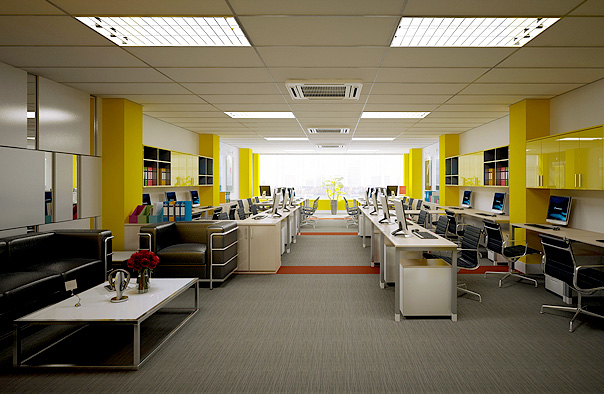 Cách trang trí nội thất văn phòng công ty hiện đại - Ảnh 2