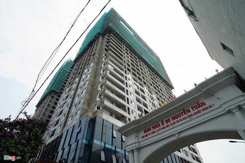 20 tòa chung cư chen chúc trên tuyến đường 720 m tại Hà Nội - Ảnh 4