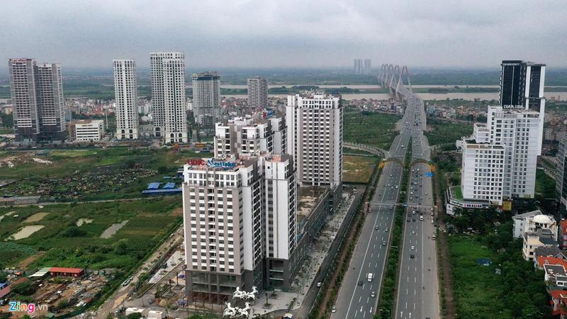 """""""Rừng chung cư"""" dọc tuyến đường ngoại giao ra sân bay Nội Bài - Ảnh 2"""