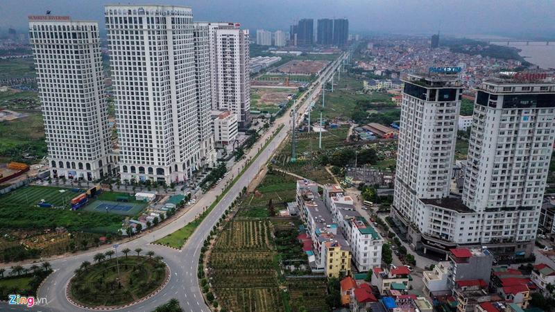 """""""Rừng chung cư"""" dọc tuyến đường ngoại giao ra sân bay Nội Bài - Ảnh 3"""