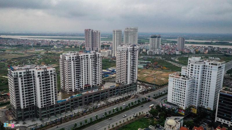 """""""Rừng chung cư"""" dọc tuyến đường ngoại giao ra sân bay Nội Bài - Ảnh 10"""
