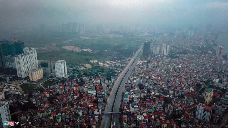 """""""Rừng chung cư"""" dọc tuyến đường ngoại giao ra sân bay Nội Bài - Ảnh 12"""
