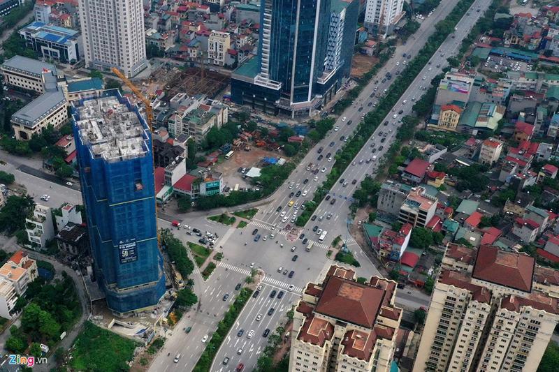 """""""Rừng chung cư"""" dọc tuyến đường ngoại giao ra sân bay Nội Bài - Ảnh 15"""