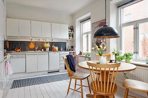 Cách bố trí bàn ăn cho phòng bếp nhỏ hẹp - Ảnh 1