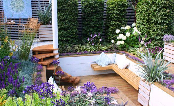 Những ý tưởng thiết kế sân vườn nhỏ xanh mát - Ảnh 1