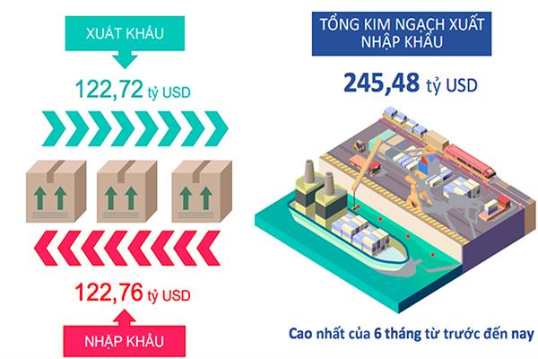 p/Tình hình xuất nhập khẩu của Việt Nam nửa đầu năm 2019