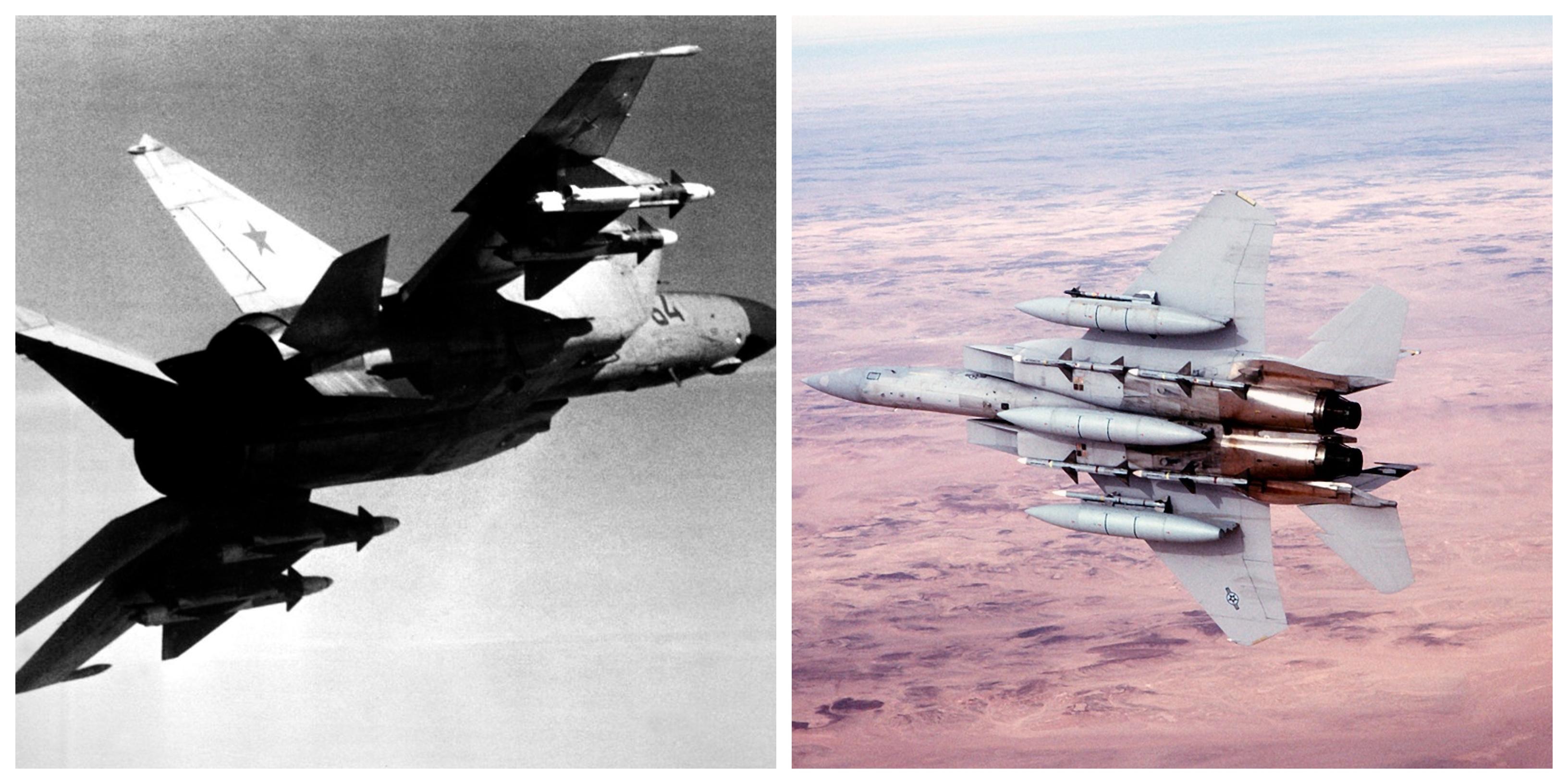 Tuy nhiên những chiếc MiG dựa vào tốc độ của chúng, đã có thể né tránh. F-15 được thiết kế đặc biệt để chống lại MiG-25 của Liên Xô và chịu ảnh hưởng lớn từ thiết kế Foxbat.
