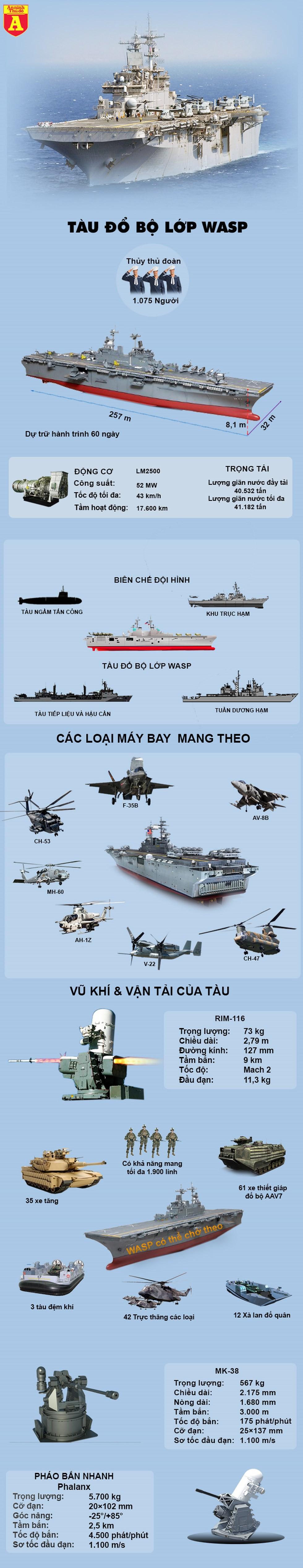 [Infographics] Siêu tàu đổ bộ Mỹ có nguy cơ tê liệt vì Covid-19 - Ảnh 1