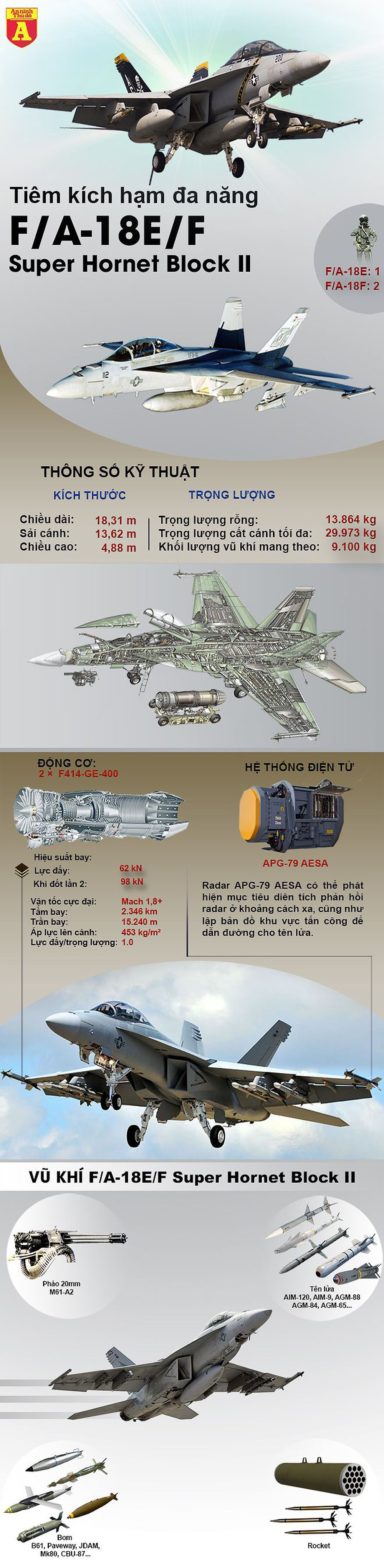 [Infographics] Tiêm kích hạm tốt nhất thế giới của Mỹ lao xuống đất  - Ảnh 1