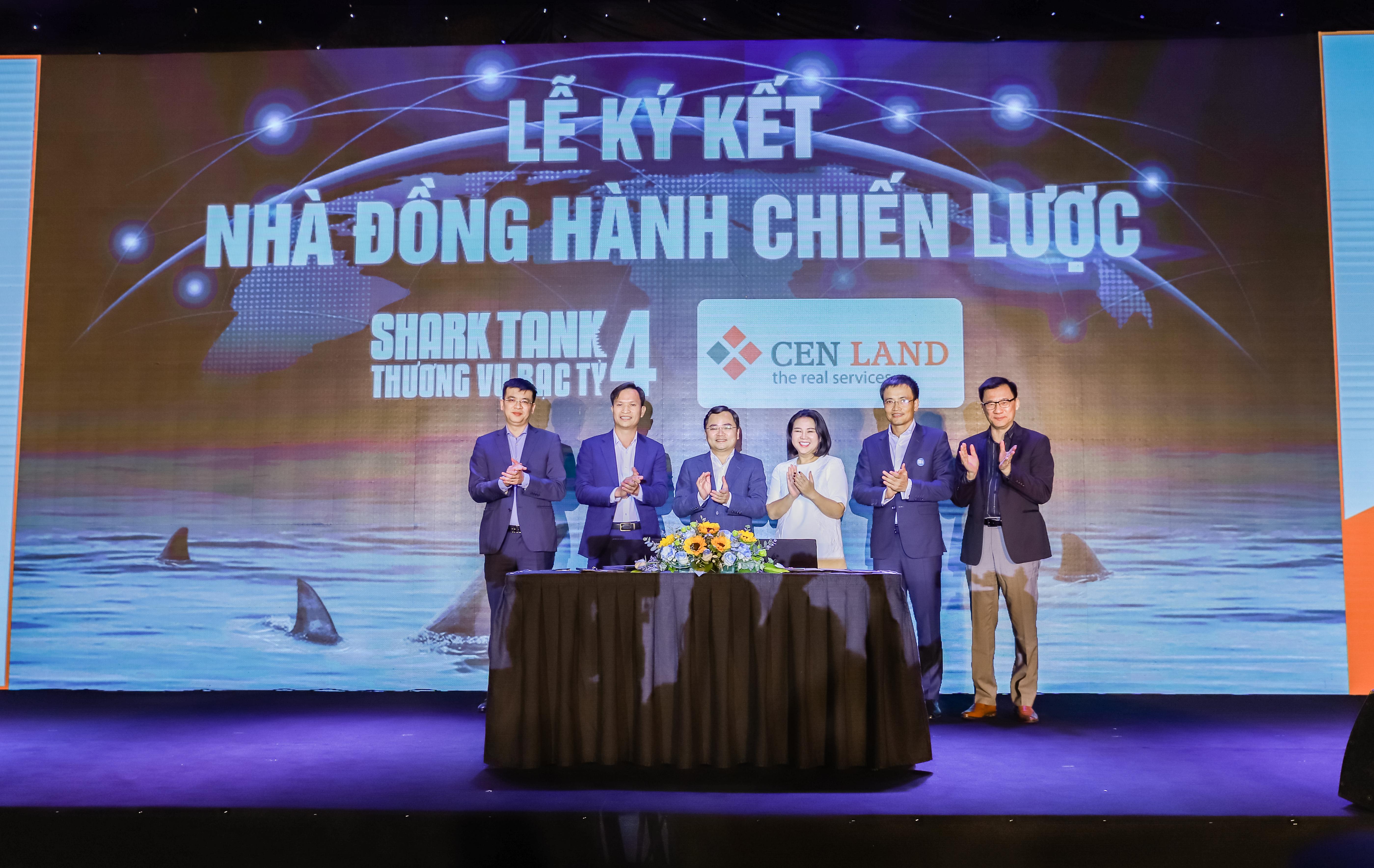 """Cen Land luôn cổ vũ và tiếp bước cho các doanh nhân trẻ Việt Nam, Cen Land đã chính thức đồng hành với Shark Tank – Thương Vụ Bạc Tỷ mùa 4 trong vai trò """"Nhà đồng hành chiến lược""""."""