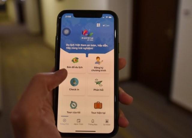 Du khách có thể dùng app để kiểm tra việc đăng ký tiêu chuẩn an toàn của khách sạn, nhà hàng, căn hộ du lịch...