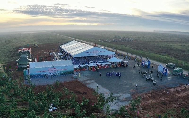 Quang cảnh lễ khởi công dự án sân bay quốc tế Long Thành sáng ngày 5/1/2021. Nguồn: Zing News