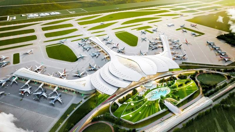 Dự án sân bay quốc tế Long Thành giai đoạn 1 với công suất 25 triệu hành khách đã khởi công ngày 5/1/2021, dự kiến hoàn thành vào năm 2025. Ảnh Zingnews