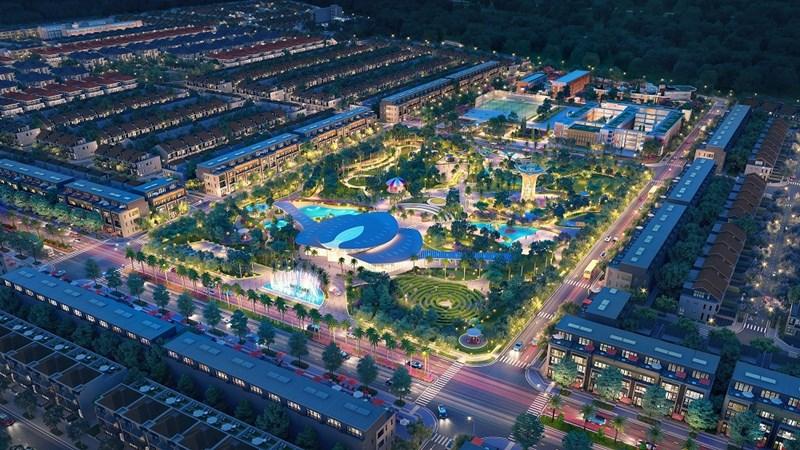Toàn cảnh dự án khu đô thị thương mại giải trí Gem Sky World 92 ha tại Long Thành. Ảnh Đất Xanh