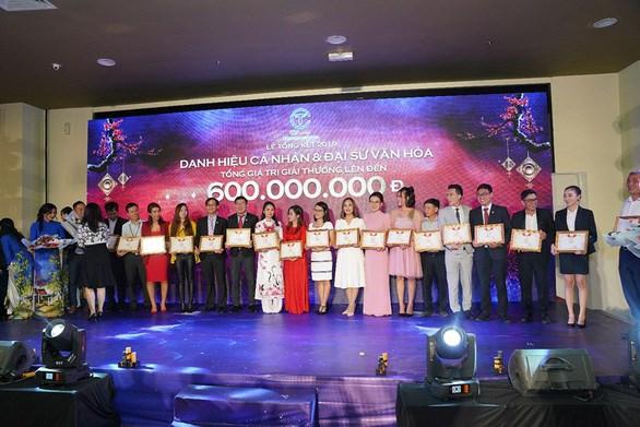 Tổng giá trị giải thưởng cho cá nhân và đại sứ văn hóa lên đến 600 triệu đồng Ảnh C.T Group