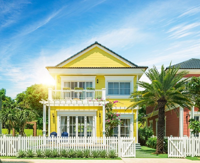 Biệt thự phong cách Florida tại NovaWorld Phan Thiet. Ảnh Novaland