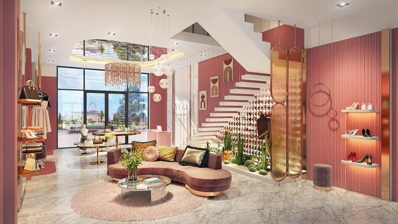 Thiết kế nội thất sang trọng của shophouse tại Khu đô thị thương mại giải trí Gem Sky World 92ha Long Thành. Ảnh DXG