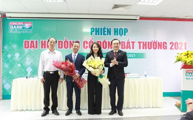 Hai thành viên mới Hội đồng quản trị KienLongBank. Ảnh Sunshine