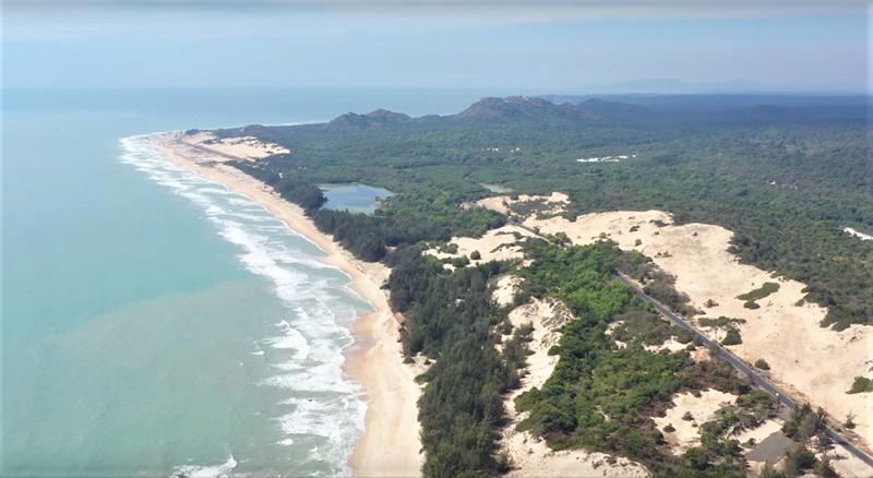 Hệ sinh thái rừng biển liền kề là thế mạnh để Hồ Tràm (Bà Rịa - Vũng Tàu) trở thành điểm đến du lịch phía Nam. Ảnh: Novaland