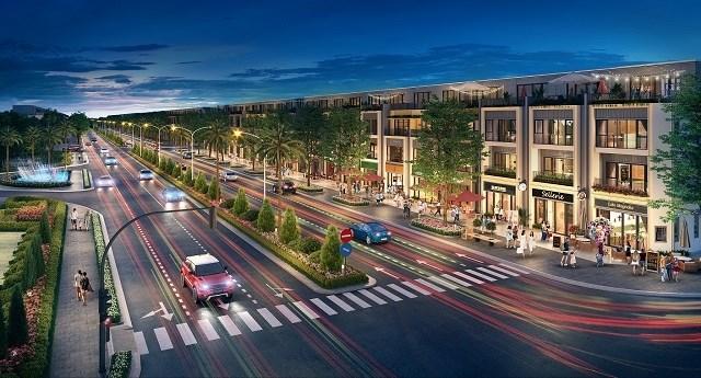 Nhà phố phân khu Sapphire Parkview có diện tích đất từ 100 - 120 m2/căn. Ảnh: Đất Xanh