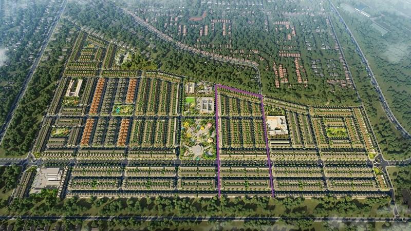 Sapphire Parkview nằm bên phải công viên Gem Sky Park gồm 534 căn nhà phố xây sẵn và 105 căn shophouse sẽ được chủ đầu tư giới thiệu trong tháng 3 này. Ảnh Đất Xanh