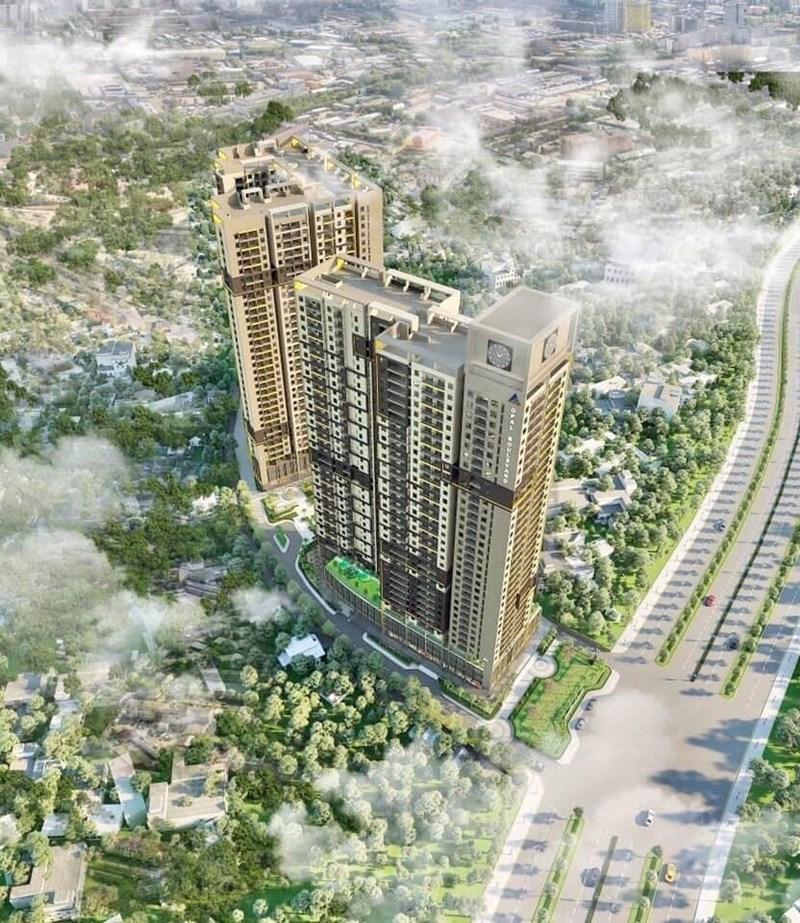 Dự án Khu Căn hộ Dịch vụ Thương mại cao tầng đường Kha Vạn Cân có tên thương mại là Opal Boulevard nằm trên trục đường Phạm Văn Đồng. Ảnh DXG
