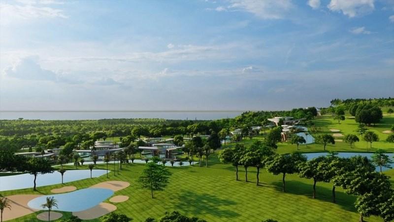Tổ hợp sân golf 36 lỗ tiêu chuẩn quốc tế cùng biệt thự sang trọng là điểm nhấn của Sunshine Heritage Mũi Né. Ảnh Sunshine Group