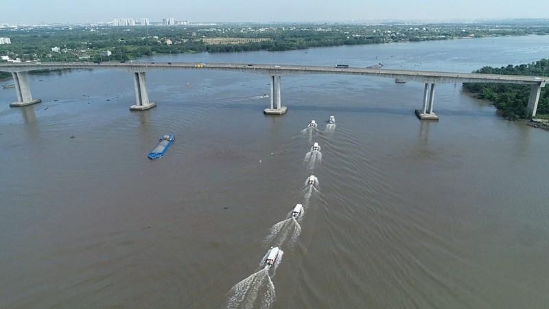 Từ Aqua City di chuyển bằng đường sông về TP. Hồ Chí Minh chỉ mất hơn 30 phút. Ảnh NVL