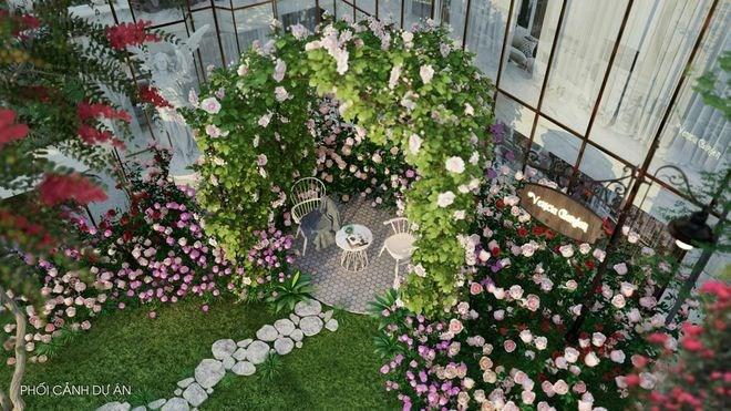 Căn hộ tại Sunshine Venicia đều sở hữu một ngõ nhỏ bên vườn hoa rực rỡ, lãng mạn dẫn lối vào tận cửa nhà. Ảnh Sunshine Group