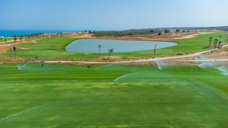 Cụm sân Golf PGA Ocean tại NovaWorld Phan Thiet sắp đưa vào vận hành vào giữa tháng 04/2021. Ảnh Novaland