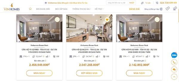 Khách hàng sẽ được mua nhà giá gốc với chi phí thấp nhất từ sàn Thương mại điện tử Bất động sản Vinhomes Online. Ảnh VIC