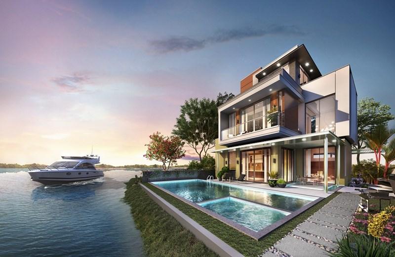 VietinBank cung cấp dịch vụ cho vay mua nhà tại Dự án Khu đô thị sinh thái thông minh Aqua City trong giai đoạn đầu Hợp tác chiến lược. (Phối cảnh không gian sống sinh thái tiện nghi dành riêng cho cộng đồng cư dân tinh hoa Aqua City, Đồng Nai). Ảnh: Novaland