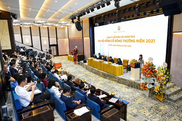 Đại hội đồng cổ đông thường niên 2021 của Công ty cổ phần Xây dựng SCG. Ảnh: Sunshine Group