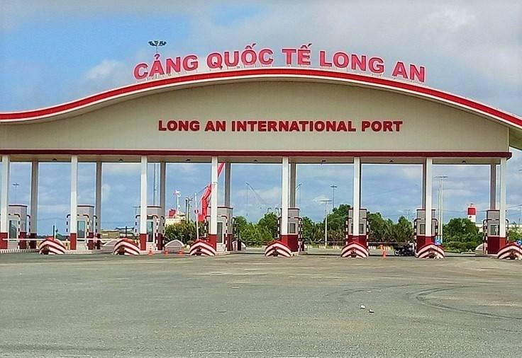 Cảng quốc tế Long An (xã Tân Tập, huyện Cần Giuộc, Long An). Ảnh: Bảo Trân