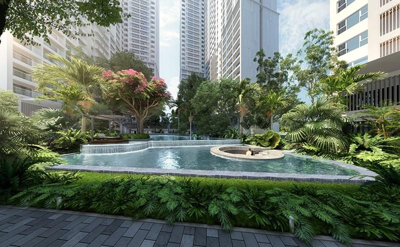 Không gian xanh mát, trong lành tại dự ánLavita Thuan An. Ảnh: PropertyX