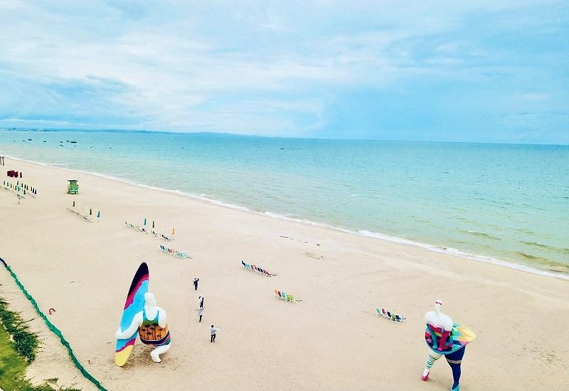 Công viên biển Bikini Beach 16 ha… là một trong những tiện ích nổi bật bao quanh PGA Golf Villas tại NovaWorld Phan Thiet. Ảnh: Khánh Linh
