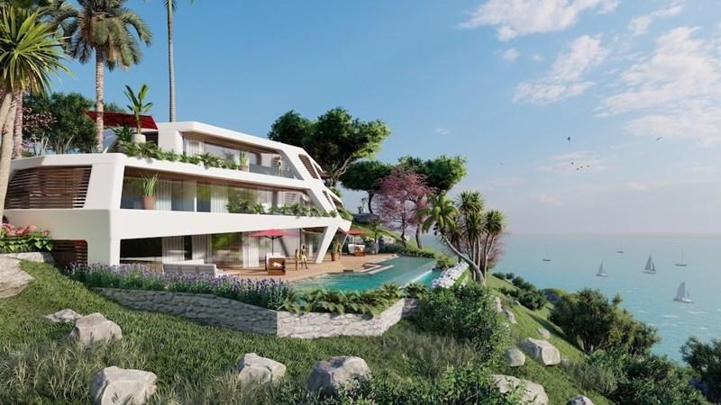 """Biệt thự Sunshine Heritage Mũi Né sở hữu tầm nhìn """"triệu đô"""" ra đại dương xanh bất tận. Ảnh: Sunshine Group."""